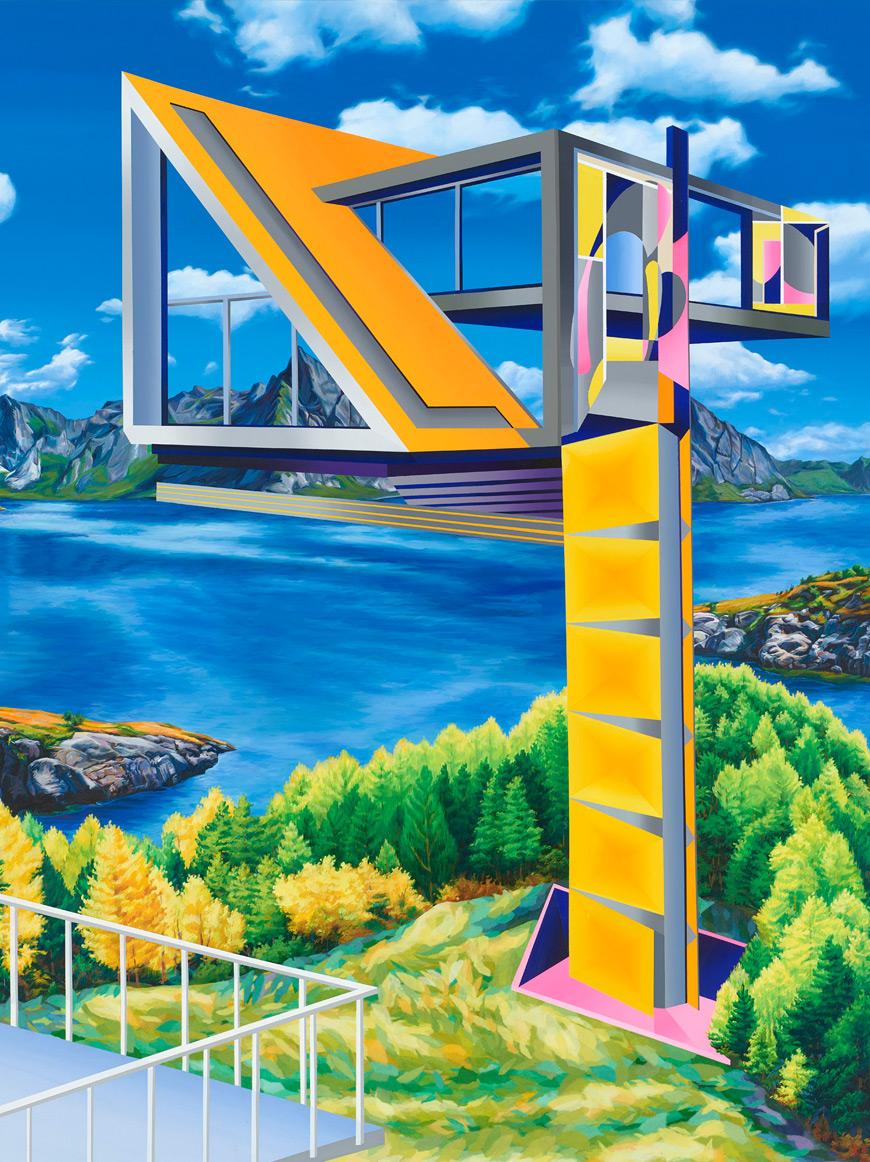 2016-einblick_ausblick(insight_Outlook)_180x150cm_acryl,papiercollage-auf-leinwand