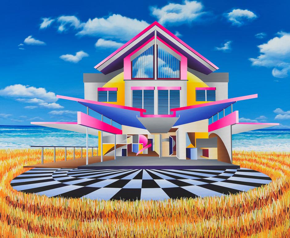 2016-meeting-in-miami_150x180cm_acryl-papiercollage-auf-leinwand